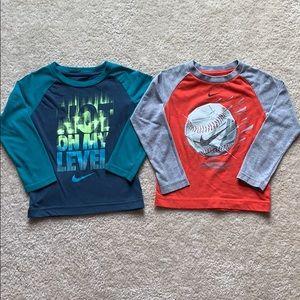 Nike long sleeve shirts 3t